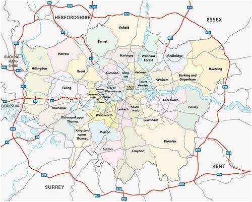 Karte London Stadtteile.Londons Stadtteile Im Uberblick