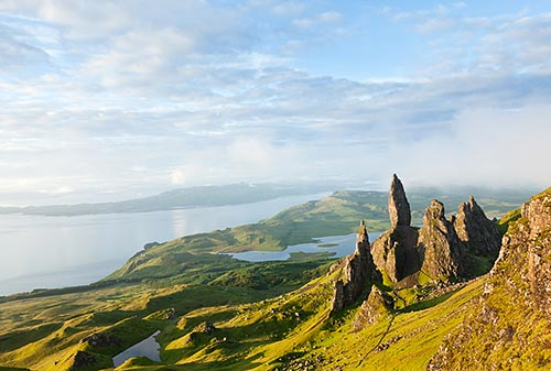 The Old Man of Storr ist ein Highlight auf der Isle of Skye.